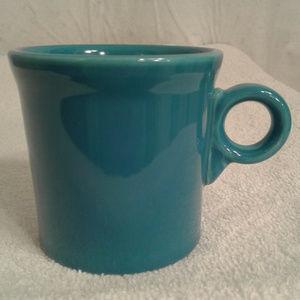 Fiesta Ware Coffee Mug O-ring handle Peacock Blue